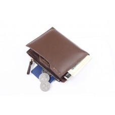 Bovi's Dompet Kulit dengan kantong koin receh - Coklat